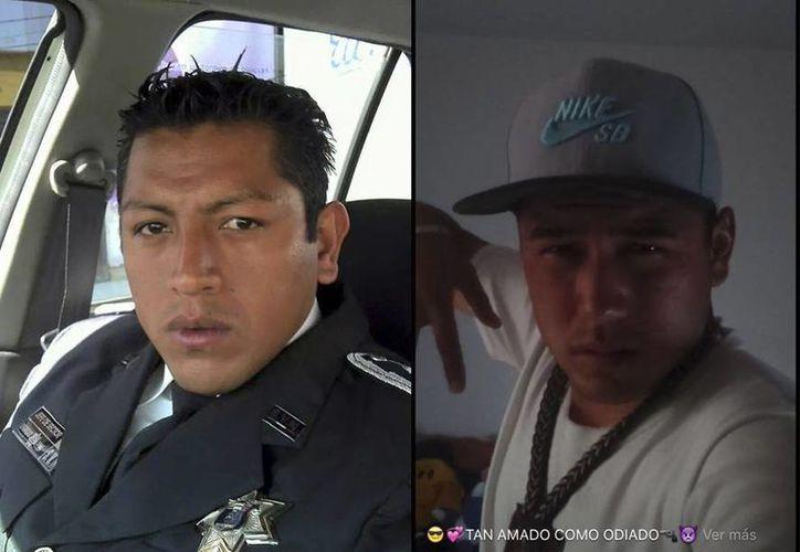 Los uniformados de Ecatepec Luis Rodolfo Peñaflor y a Luis Beltrán Ledesma son acusados de abusar sexualmente de una menor de edad. (Facebook/Denuncia Ecatepec)