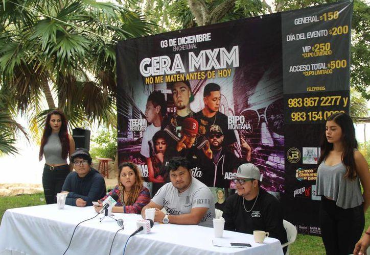 El rapero Gera MXM se presentará en Chetumal el 3 de diciembre, acompañado de talento local. (Eddy Bonilla/SIPSE)