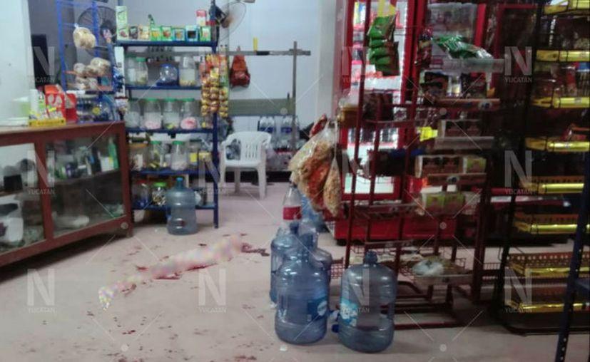 """El hecho sucedió este domingo por la noche, cuando """"Zito"""" acudió a comprar a la licorería """"Noa Noa"""". (Novedades Yucatán)"""