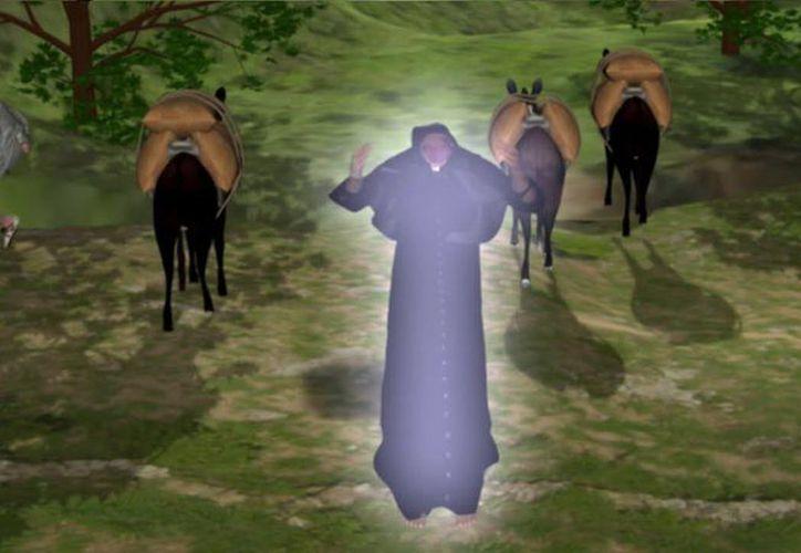 El monje sin cabeza recorre a caballo los alrededores de Akil. (Jorge Moreno)