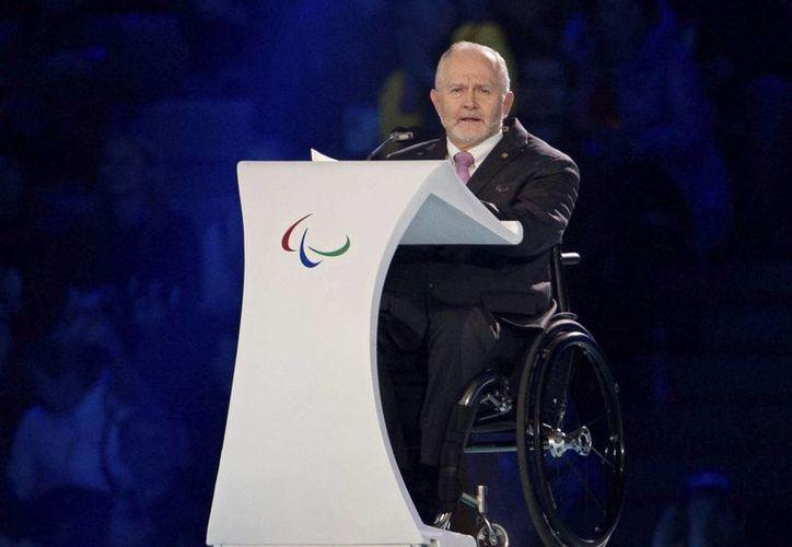 El presidente del Comité Paralímpico Internacional (CPI), Philip Craven, al dar a conocer que todo está listo para el inicio de los Juegos Parapanamericanos en Toronto desde este viernes. (EFE/Archivo)