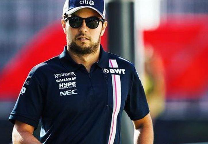 """""""Checo"""" Pérez tiene la mira puesta en la carrera de este fin de semana en sumar puntos importantes. (Instagram)"""