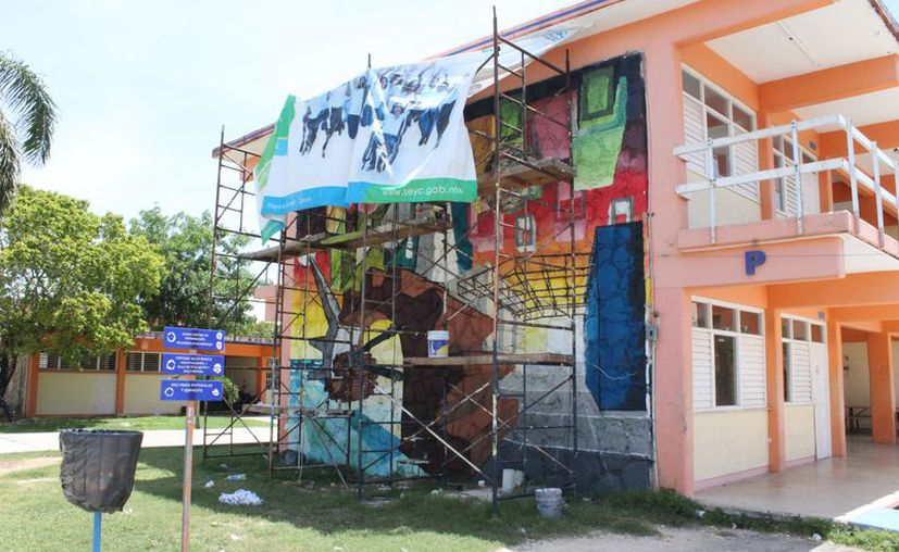 La obra se basa en el concepto artístico del muralismo moderno. (Joel Zamora/SIPSE)