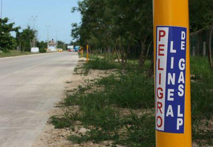el proyecto contempla 82 kilómetros de tubería entre Cancún y Playa del Carmen. (Foto: Adrián Barreto/SIPSE).