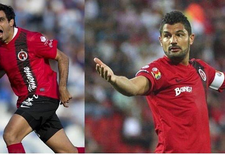 Gandolfi (d), de 33 años, y Pellerano, de 32, se unirán a 'El Cepillo' Peralta (30) como los nuevos refuerzos del América. (fotos de archivo: goal.com y mediotiempo.com)