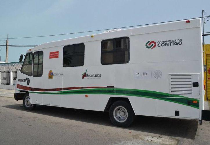 Ponen en marcha  las  actividades de las Unidades Médicas Móviles en la zona norte. (Redacción/SIPSE)