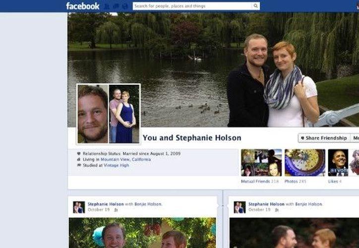 La fotografía del perfil en común es una combinación de las imágenes que cada uno tiene en su cuenta personal. (Facebook)