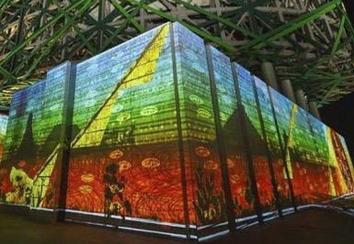La vistosa técnica en 3D será impartida para el público en general en el Flow Holistic Center. Imagen de una demostración en el Gran Museo Maya. (Milenio Novedades)