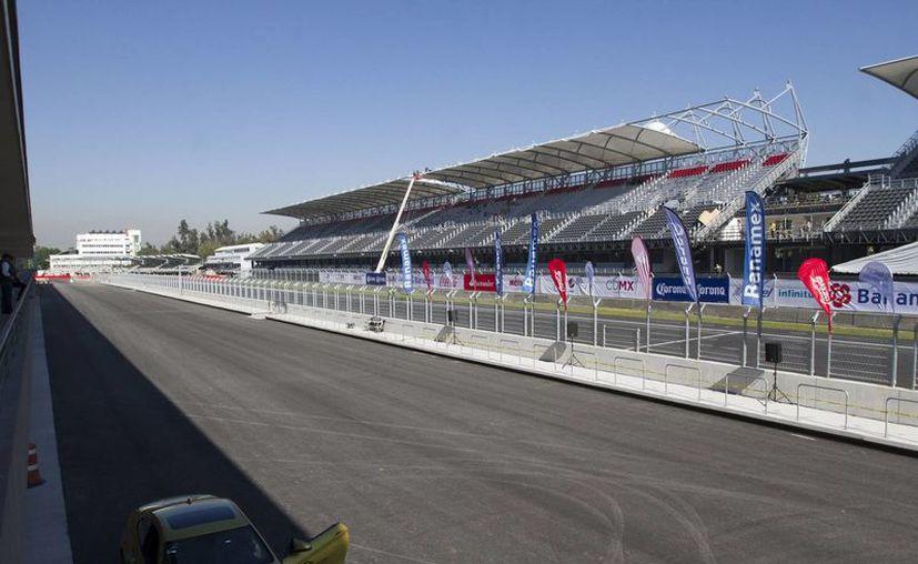 El costo por metro cuadrado del recinto que albergará al GP de México este fin de semana es de 13 mil 873.74 pesos. (Archivo Notimex)