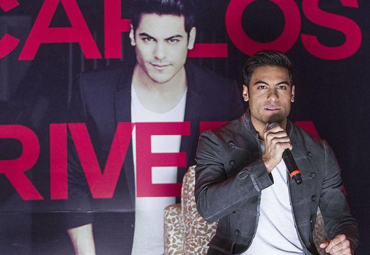 El cantautor y actor, Carlos Rivera presentará formalmente su nuevo material <i>Yo creo</i> el próximo 21 de mayo, en el Auditorio Nacional. (Notimex)