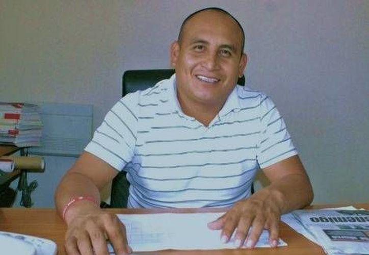 Reveriano Pérez Vega, candidato del PRI a la alcaldía de Coxquihui, en Veracruz. (Milenio)
