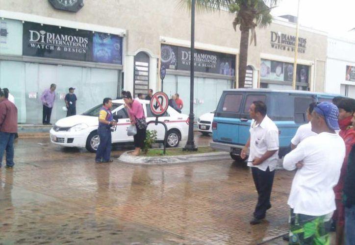 Empleados del centro de la ciudad se percataron del asaltó. (Marco Do Castella/SIPSE)