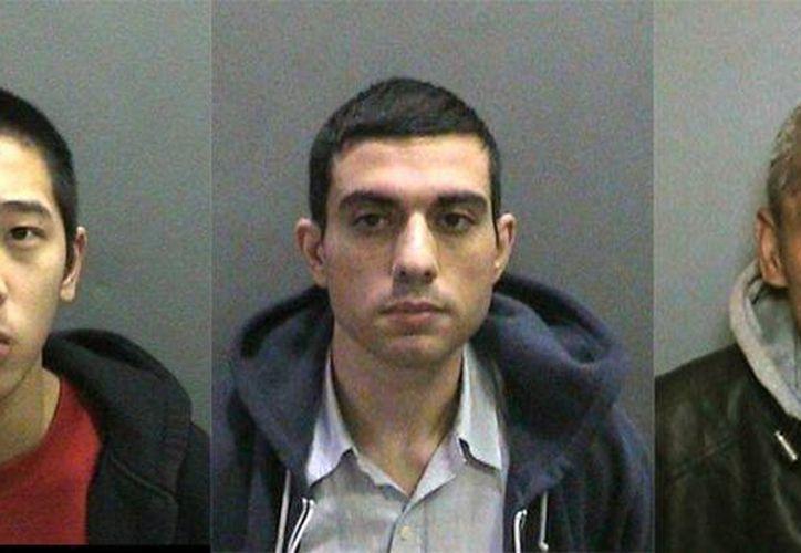 Imagen de Jonathan Tieu, Hossein Nayeri y Bac Duong, los reos que escaparon de la prisión para hombres Orange County Central en Santa Ana. (Agencias)