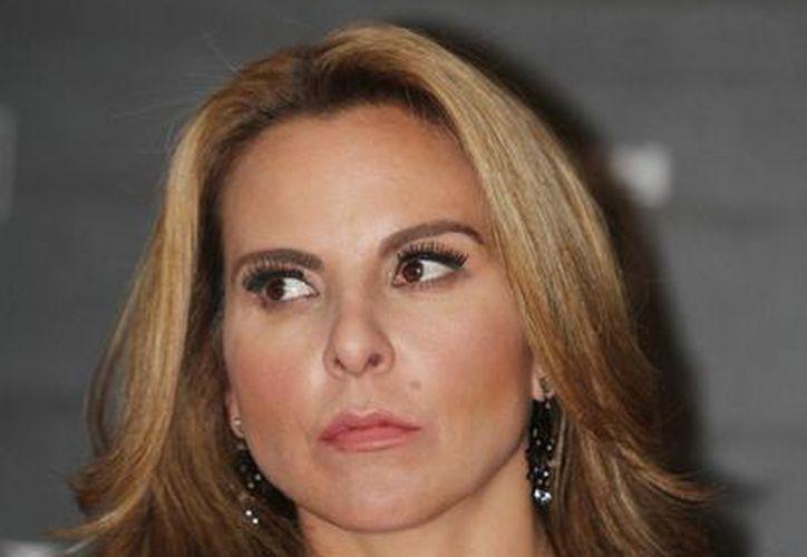 Kate del Castillo en conferencia de prensa para promover en México la película 'Visitantes'. (Notimex)