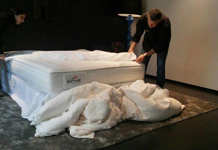 El Smarttress, que es como se llama este colchón inteligente, fue presentado en Madrid. (facebook.com/Durmet)