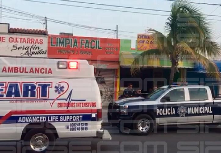 La policía cerró la circulación en un tramo de La Torcasita. (Redacción/SIPSE)