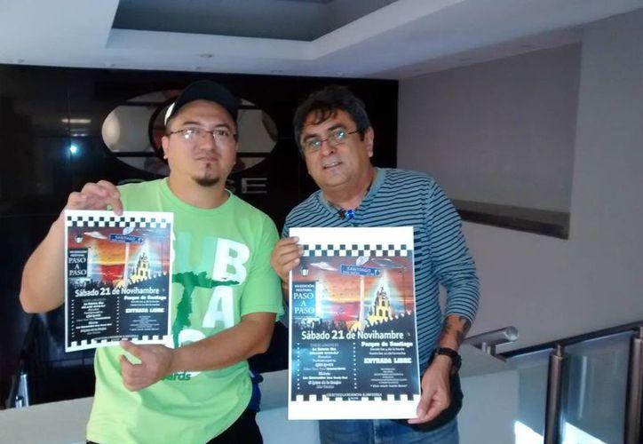 Jorge Martín y Marte Araiza, organizadores del VII Festival Paso a Paso, el cual se realizará hoy en la tarde. (Milenio Novedades)