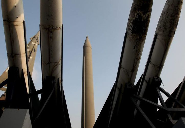 Vista de un misil de Corea del Norte llamado Scud-B. (EFE)
