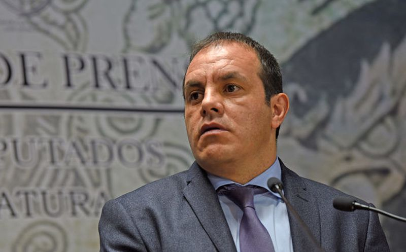 El PRD hizo una protesta contra el registro de Cuauhtémoc Blanco como candidato a gobernador de Morelos. (Foto: Contexto)
