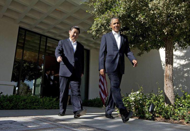 Obama y Jinpin entablarán pláticas durante dos días en el marco de una cumbre. (Agencias)