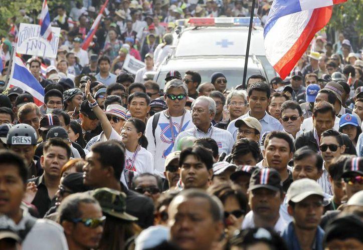 Los manifestantes quieren que la primera ministra Yingluck Shinawatra renuncie. (Archivo/EFE)