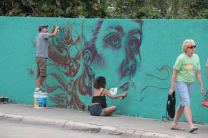 Con murales buscan incentivar la conservación de los arrecifes