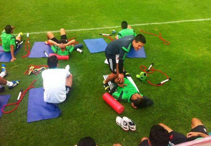 La selección de México está concentrada en el CAR preparandose para enfrentar a Nueva Zelanda en el estadio Azteca. (@miseleccionmx)