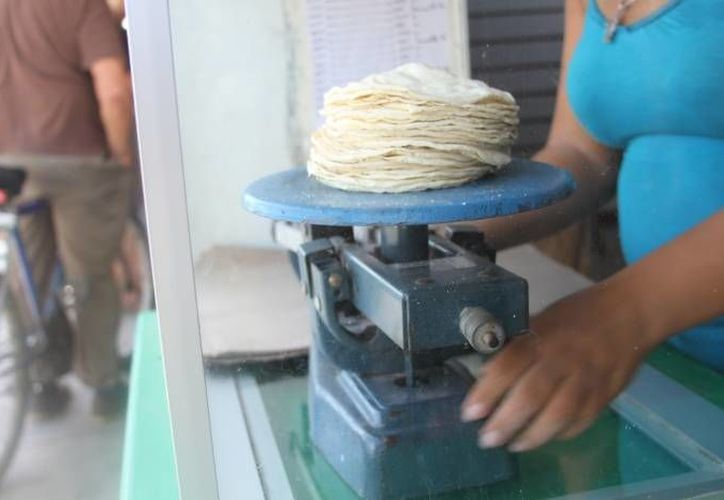 A partir del próximo lunes, el kilo de la tortilla tendrá un precio de 17 pesos. (Foto: Contexto/SIPSE)