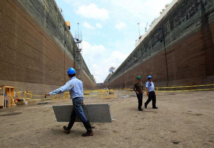 Las obras de ampliación del Canal de Panamá llevan un avance del 93 por ciento. (EFE)