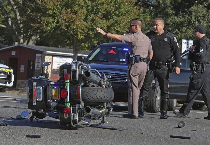 Imagen de un accidente de tránsito ocurrido en orlando Florida, el 9 de enero de 2017.(Red Huber/Orlando Sentinel via AP)
