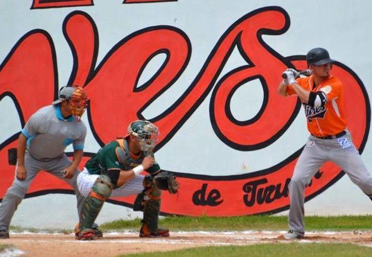 Los Tigres de Q. Roo vencieron 5-4 a los Leones de Yucatán este domingo en Tizimín. (Cortesía/Tigres de Quintana Roo)