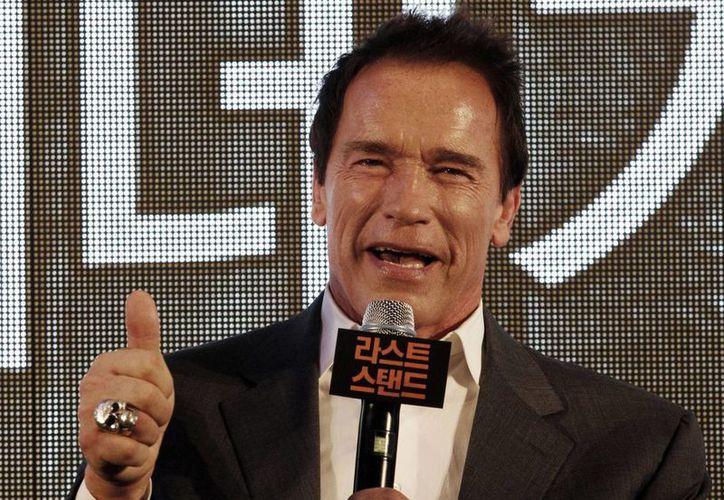 Schwarzenegger promueve su más reciente filme 'El último desafío'. (Agencias)