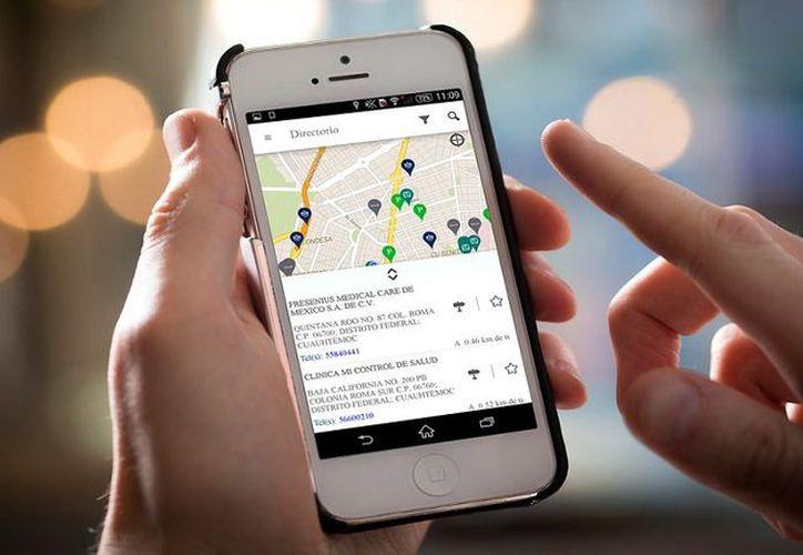 La app permite ubicar hospitales, clínicas, laboratorios y bancos de sangre. (Foto: Milenio Novedades)