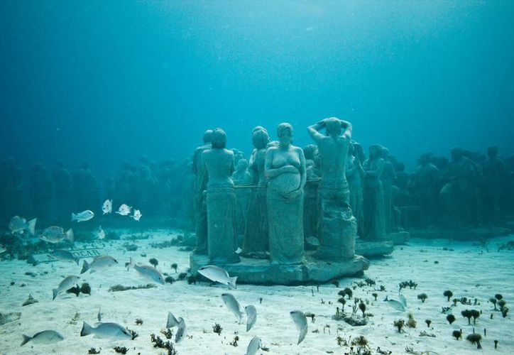 """Exhibición de piensas en los salones acuáticos """"Manchones"""". (Israel Leal/SIPSE)"""