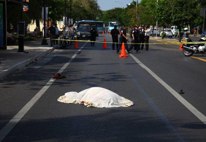 La mujer que murió atropellada en la avenida Itzaes el miércoles es la quinta víctima fatal de accidentes en esa vía. (Jorge Pallota/SIPSE)