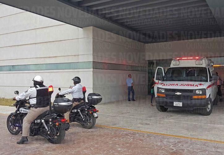 La persona sería llevada a uno de los tres hospitales con que se tiene convenio para ser atendida. (Jesús Tijerina/SIPSE)