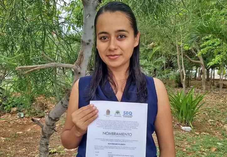 Kelyn Lizzeth Silva Ríos aprobó y ganó su plaza por los próximos cuatro años. (Jesús Tijerina/SIPSE)