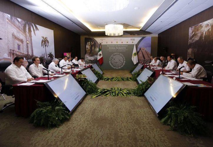 Aspecto de la Reunión de Seguridad de la Zona Sureste, realizada en Mérida. (SIPSE)