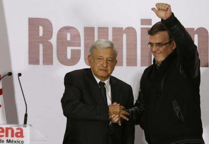 Andrés Manuel López Obrador confirmó a Marcelo Ebrard en su equipo de trabajo. (Cuartoscuro)