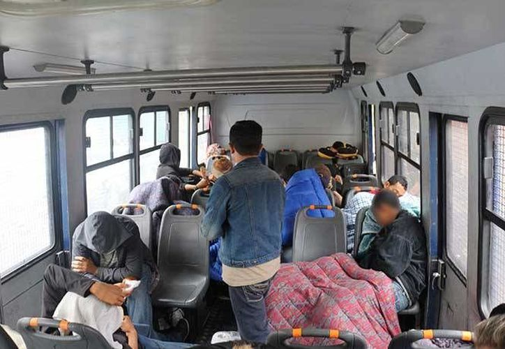 Los migrantes centroamericanos quedaron a disposición del Instituto Nacional de Migración para que reciban asistencia consular y se les otorgue el retorno asistido. (Excélsior)