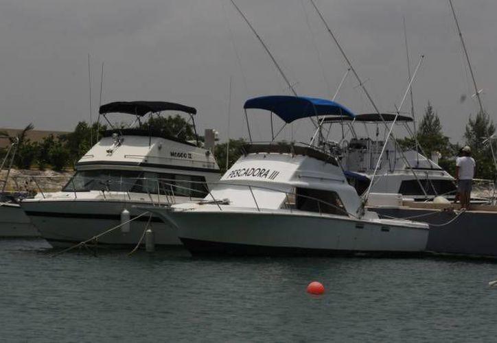 Embarcaciones de diversos tamaños participarán en el torneo. (Redacción/SIPSE)