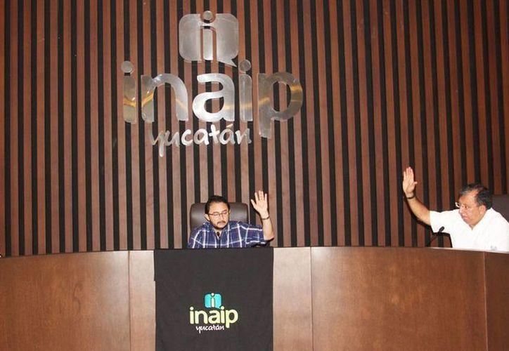 Los Consejeros del INAIP acordaron dar un plazo de tres días para que el Ayuntamiento de Hunucmá cumpla con entregar la información solicitada. (Cortesía)