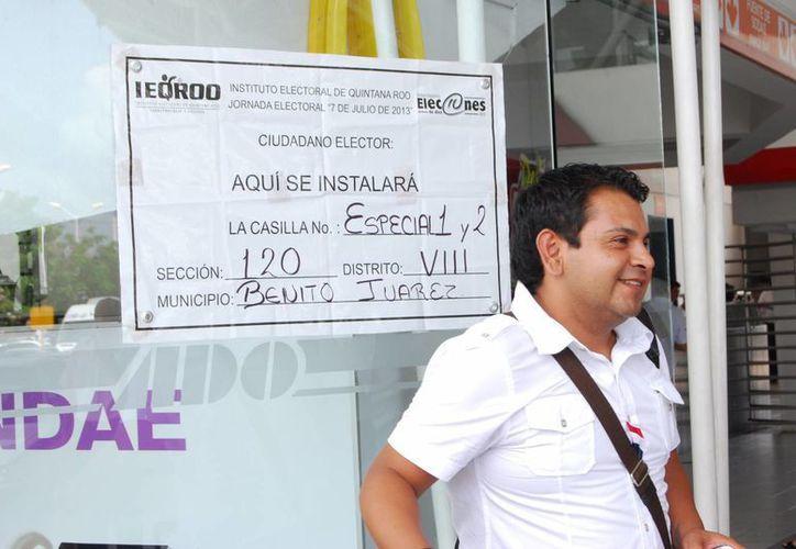 Las casillas se abrirán a las ocho de la mañana y cerrarán a las 18 horas. (Tomás Álvarez/SIPSE)