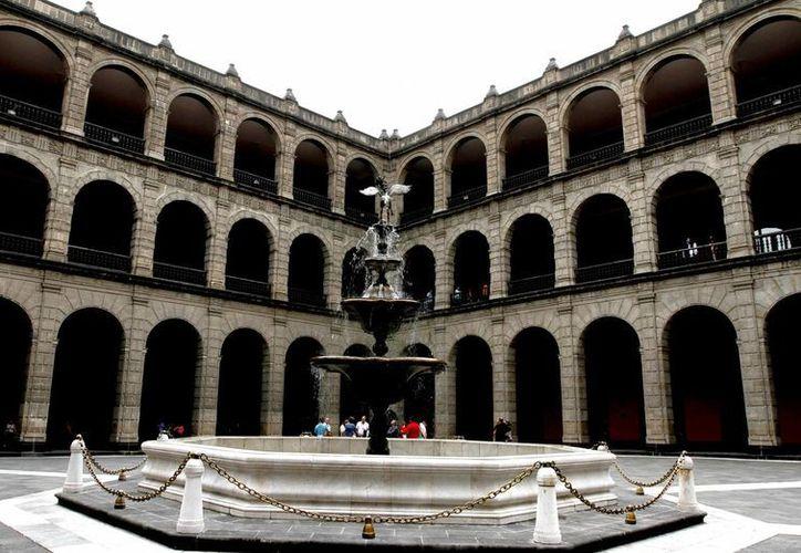 Imagen de archivo de el Palacio Nacional, el cual se encuentra en una restauración. (Archivo/Notimex)