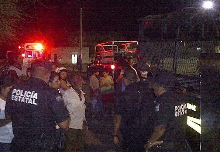 La movilización policiaca en Motul fue intensa y rindió frutos la madrugada de este miércoles. (SIPSE)
