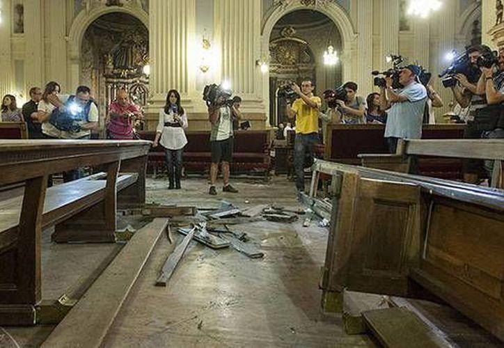 El pequeño artefacto casero estalló el 2 de octubre en el interior de la basílica de Santa María del Pilar en Zaragoza. (Archivo/EFE)