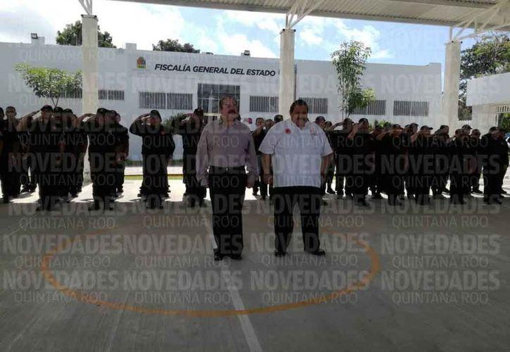 David Enrique Velarde Sigüenza fue presentado en Chetumal. (Joel Zamora/SIPSE)