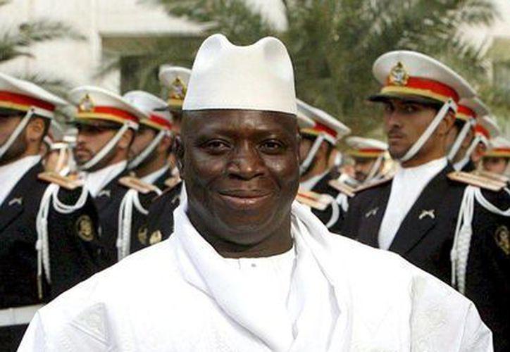 El presidente gambiano, Yahya Jammeh, advirtió sobre la imposición de la pena máxima para los homosexuales en su país. (EFE/Archivo)