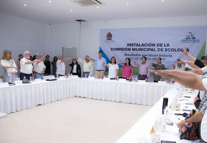 Instalan la Comisión Municipal de Ecología de Puerto Morelos. (Cortesía/SIPSE)