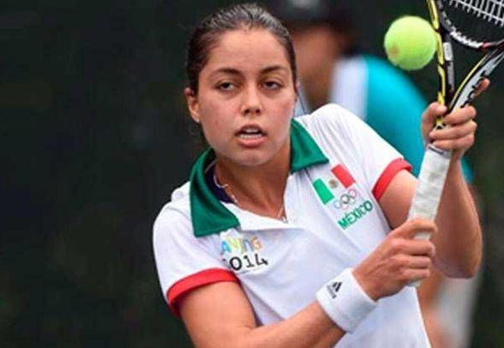 Renata Zarazúa, única mexicana entre las competidoras de cuartos de final en el Abierto Juvenil Mexicano. (codejalisco.gob.mx)